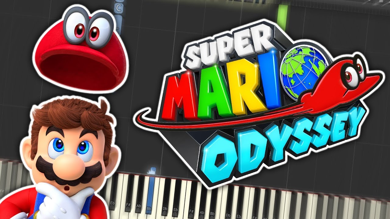 Super Mario Odyssey - Break Free [8-bit] Theme Piano Tutorial Synthesia