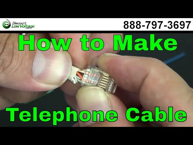 How to make a Telephone Cable - USOC RJ11 RJ45 - YouTube