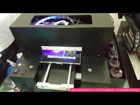 A4 size 6 color Sapphire-Jet UV printer phone case printing machine