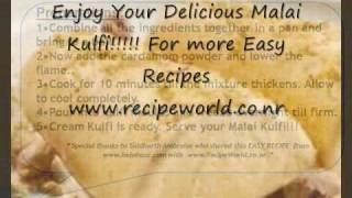 Indian Malai Kulfi Easy Recipe