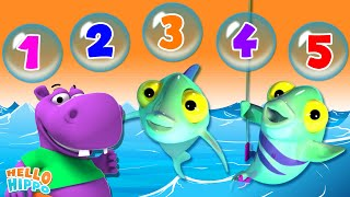 Learn Popular Nursery Rhymes Children Videos 3D Animation Videos 1234 Once I Caught A Fish More