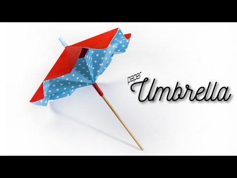 How to make a paper umbrella that opens and closes 🌂 DIY Paper Umbrella