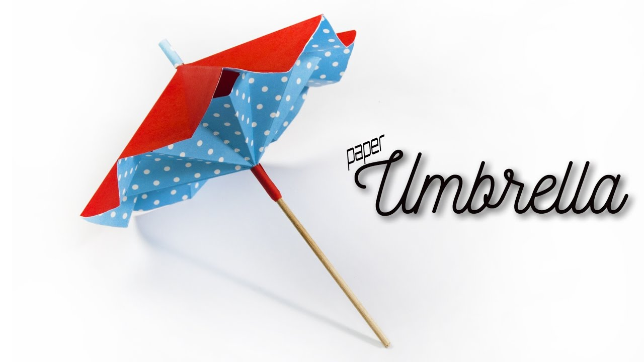 how to make a paper umbrella that opens and closes diy paper