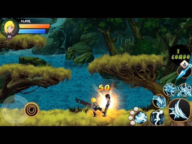 NinjaX - Jogo inspirado em naruto para celular[GAMEPLAY]