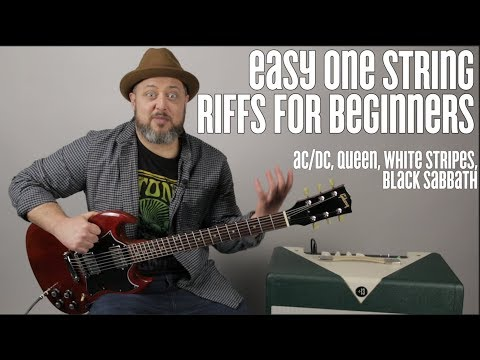 ac/dc,-queen,-white-stripes,-super-easy-beginner-guitar-riffs-on-one-string