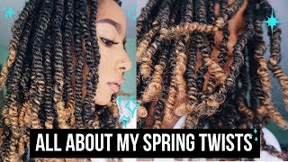How To: SPRING TWIST TUTORIAL ON NATURAL HAIR | Ombre Spring Twist Hair