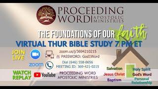2020_0813 PWAM Bible Study: Tithe Faith Builder - Scripture Study - PART ONE
