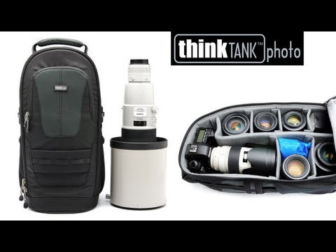 Glass Limo backpack, camera and large glass - Think Tank Photo