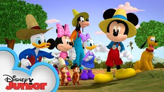 Mickey and Friends Fix a Farm  | Mickey Mornings | Mickey Mouse Mixed-Up Adventures | Disney Junior