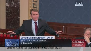 Sen. Michael Bennet (D-CO) on Government Shutdown (C-SPAN)
