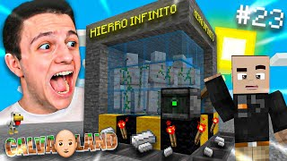 ¡CREO LA MEJOR GRANJA DE HIERRO INFINITA!! | Calvaland #23