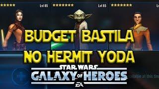 Budget Bastila Wipes Traya w/o Hermit Yoda Or General Kenobi - Star Wars: Galaxy Of Heroes - SWGOH