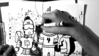 """Time Lapse Drawing """"Heroes"""""""
