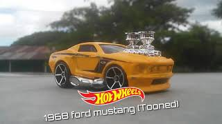 My first tooned car! Hot wheels 1968 ford mustang tooned review!
