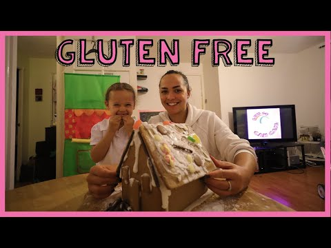 Cam Cam makes a gluten free gingerbread house!