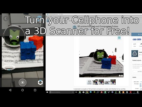 Turn Your Cellphone Into A 3D Scanner For FREE! (123D Catch)