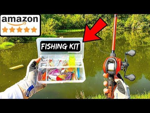 Fishing W/ Amazon's HIGHEST RATED Fishing Kit (Surprising!)