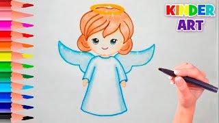 как нарисовать ангела поэтапно  How to Draw an Angel - Cute & Easy