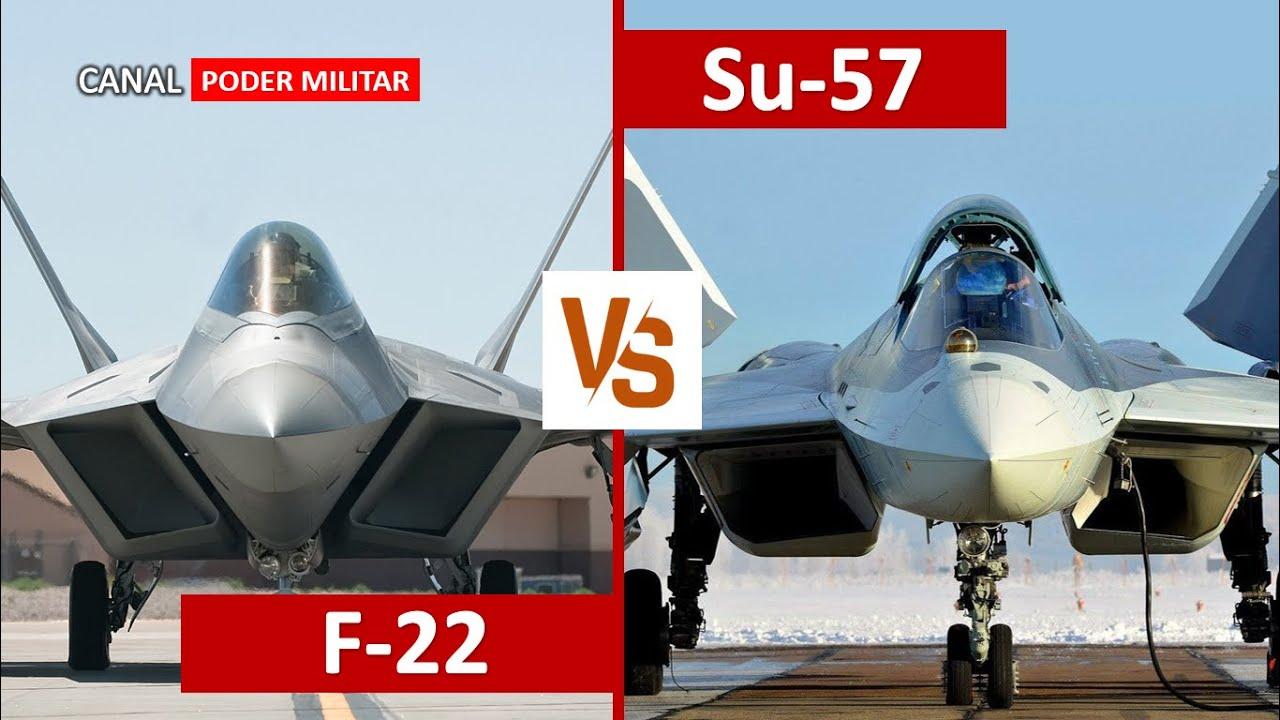 F-22 vs Su-57 - Comparación
