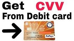 How to find CVV from Debit card