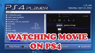 PS4 player watching movie