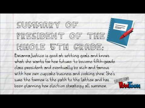 book report president of the whole fifth grade