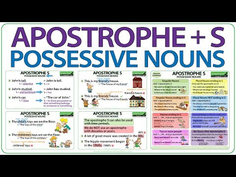Apostrophe S - Possessive Nouns In English