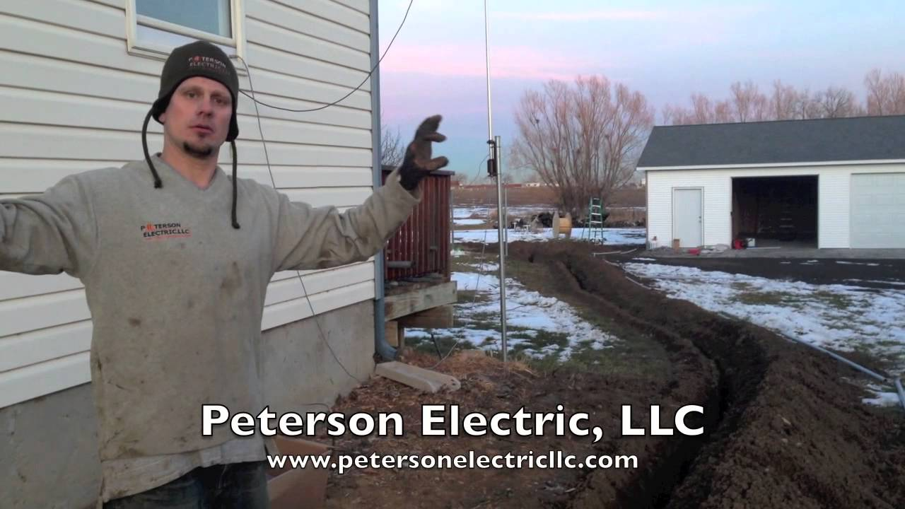 trenching wiring a detached garage loveland electrician co youtube