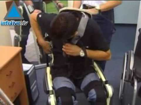 Israeli Exoskeleton Suit Enables Paralyzed People To Walk (All Credits are for Infolive.tv)