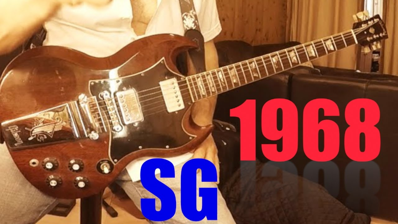 1968 gibson sg standard bought by me in 1969 vintage guitar sound
