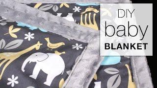 Easy DIY Baby Blanket Sewing Tutorial