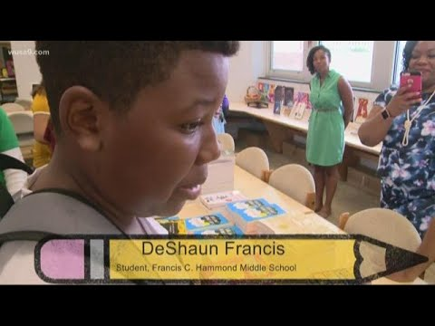 IMPACT: Alexandria Middle School students receive new books