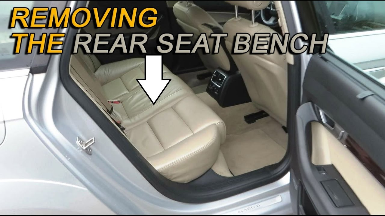 Audi A6, S6, RS6, Allroad C64F Rear Seat Bench Removal  How to remove the rear seat  YouTube