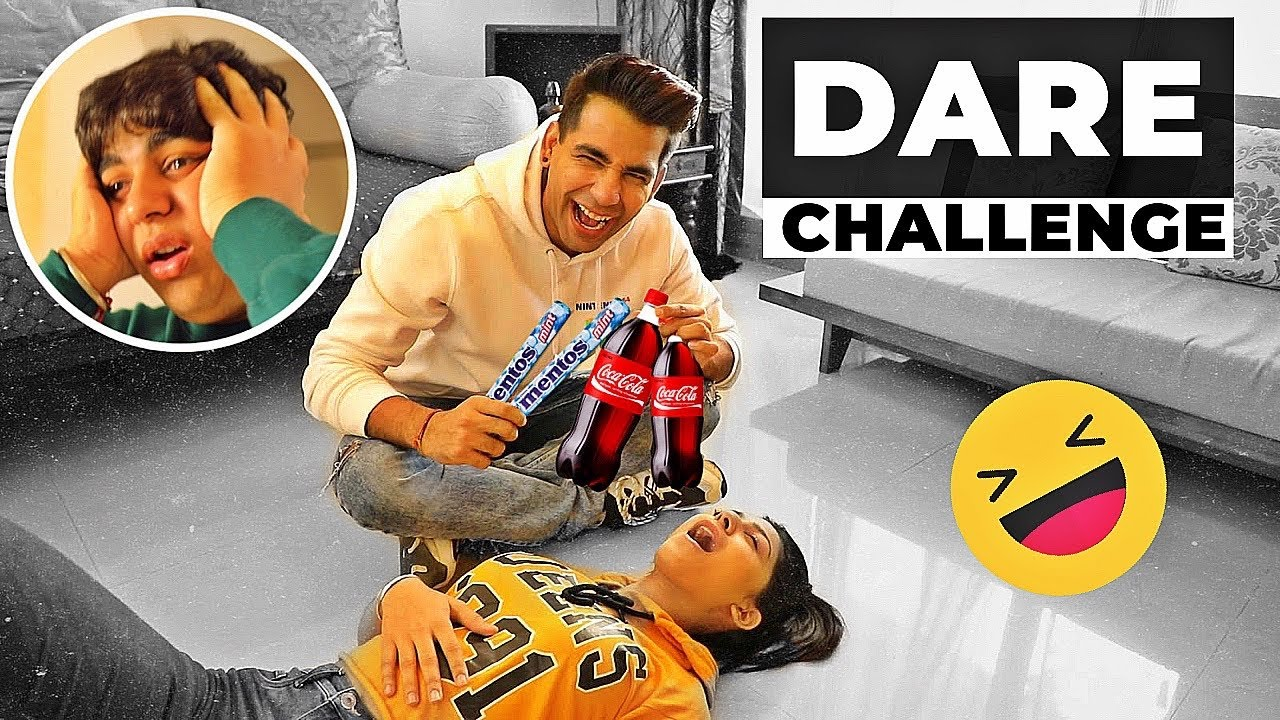 DARE Challenge with Brother & Sister | Rimorav Vlogs - YouTube