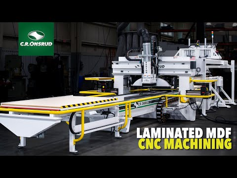 Laminated MDF CNC Machining  - Featuring the Onsrud S-Series CNC Router In-line Automation System