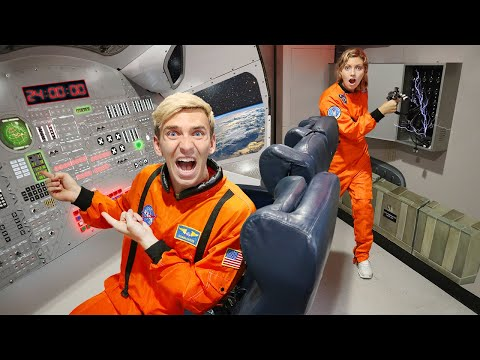 STUCK in SPACE SHIP ESCAPE ROOM for 24 HOURS!! (Winner Gets $10,000)
