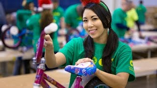 BP America Employees Build Bikes With Elves & More