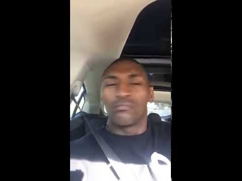 """Metta World Peace Listening to """"Critics"""" by Lulu216 in His Car"""