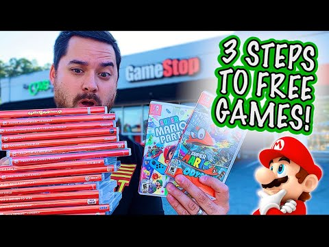 How to get games FREE FROM GAMESTOP!