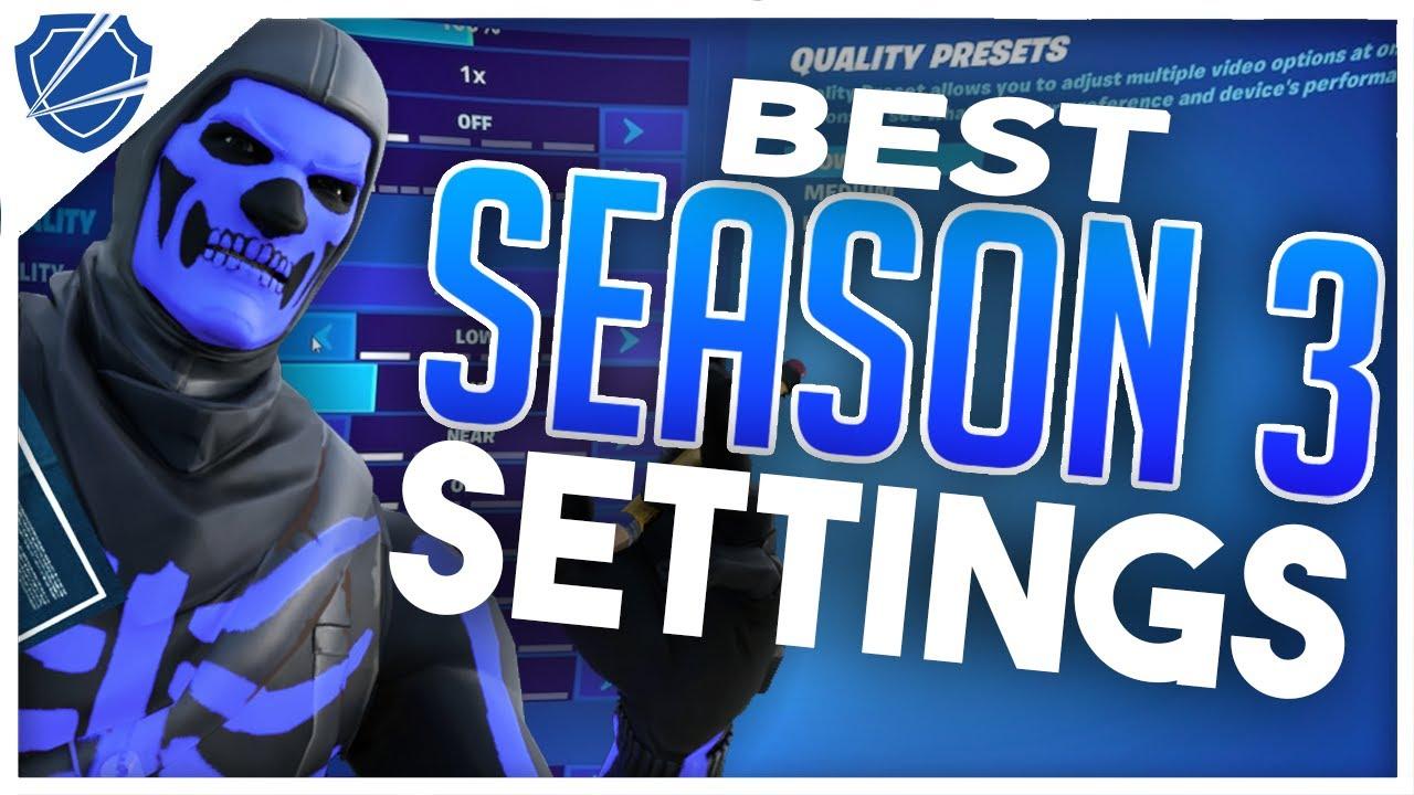Fortnite BEST Settings PC Keybinds, Sensitivity, Colorblind, Video Settings, and MORE | Season 3
