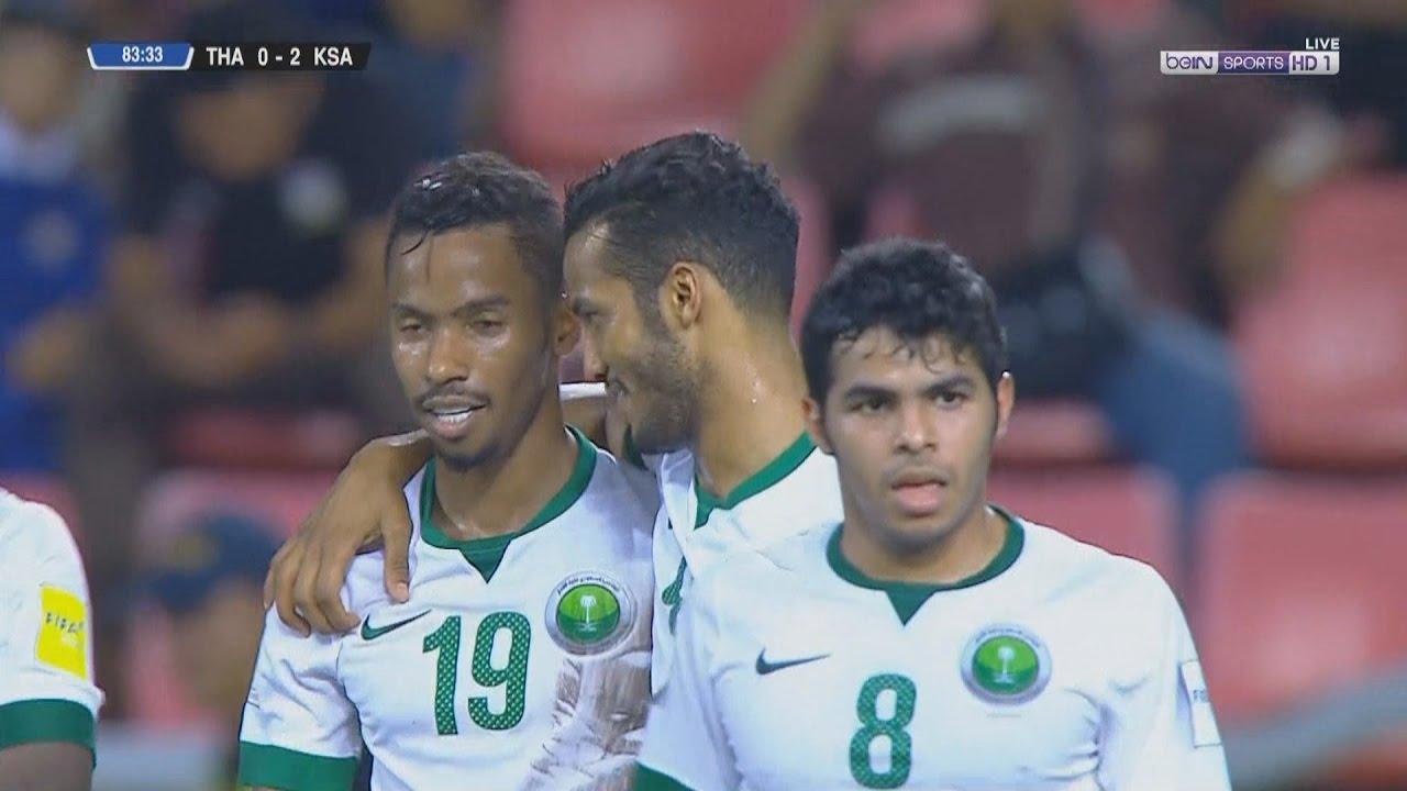 أهداف مباراة تايلاند 0-3 السعودية   تعليق فهد العتيبي   تصفيات كأس العالم 2018