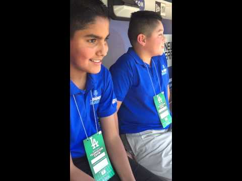 Orel Hershiser & (Kids) Jr. Dodgers Broadcasters