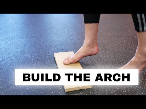 Fix flat feet and fallen arches (foot strength exercise) the Arch Raise exercise for flat feet