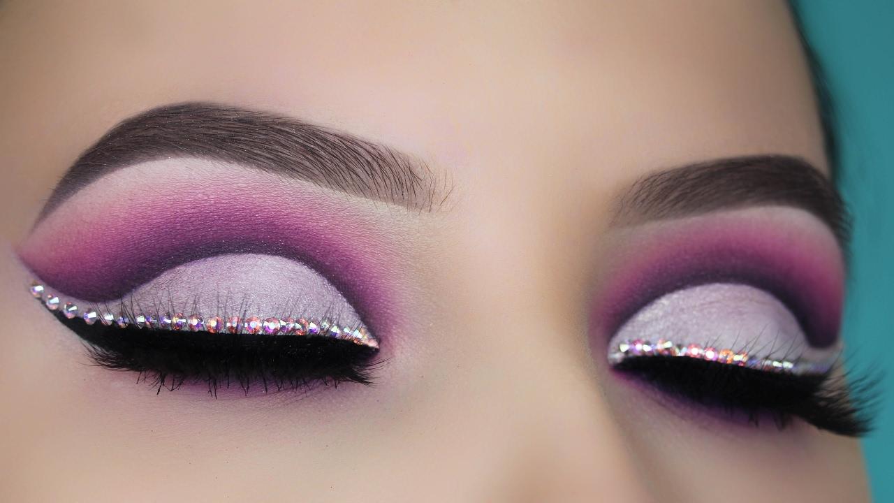 Diamond Purple Cut Crease Makeup Tutorial - YouTube - photo #32