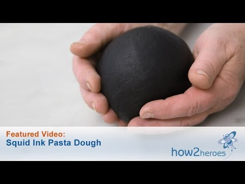 how to make squid ink pasta dough
