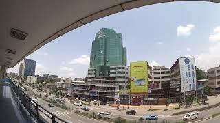 Addis Abeba Tag 11 03.08.2018 Bole Road from the Getu Commercial Building