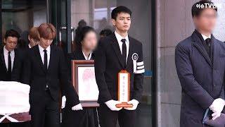 故 종현 발인…샤이니 멤버 '온유-키-민호-태민' 눈물 속 운구행렬