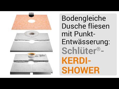 dusche fliesen mit punktentw sserung aufbau mit schl ter. Black Bedroom Furniture Sets. Home Design Ideas