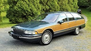 1993 Buick Roadmaster Estate Wagon Start Up, Tour and In Depth Review - 77K