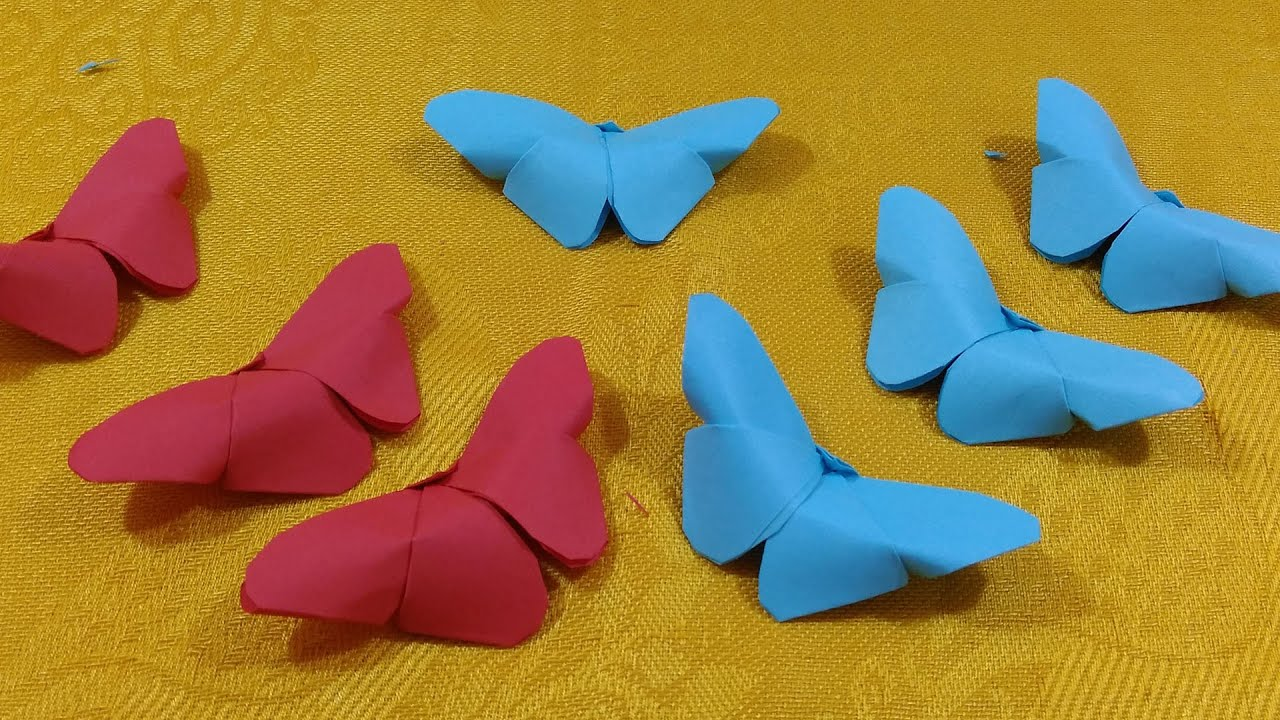 How to make an origami paper butterfly the art of paper for Craft work with paper folding
